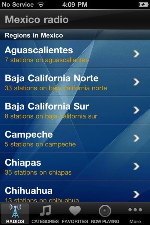 Mexico Radio Stations Player