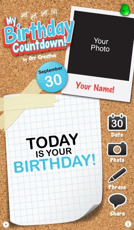 My Birthday Countdown! screenshot-4