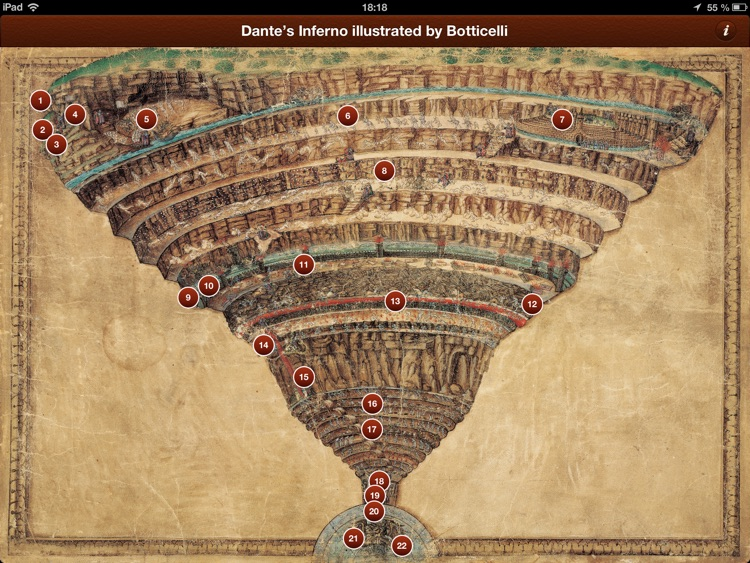 Dante's Inferno illustrated by Botticelli