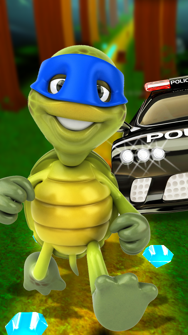 A Turtle Ninja Run 3D - Cool Kids Fun For Boys & Girls Freeのおすすめ画像1