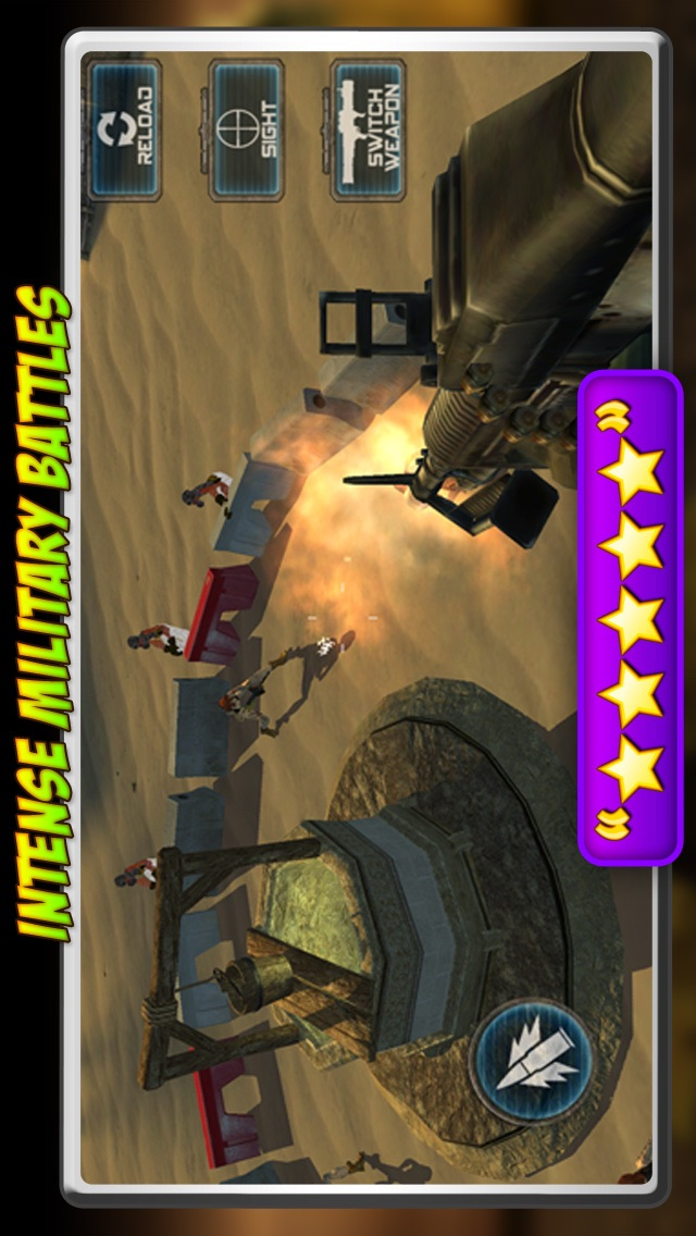 Screenshots of Helicopter Zombie Hunt- Fun 3D Army Defense Game for iPhone