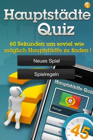 Hauptstädte Quiz FreeScreenshot von 1