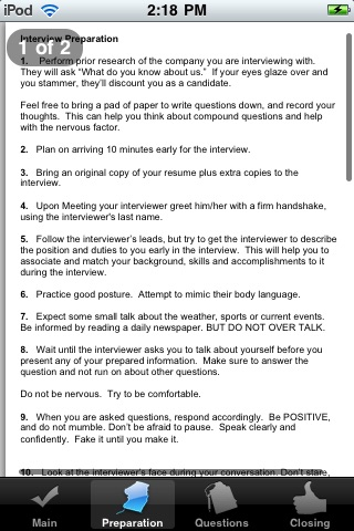 Job Interview Cheat Sheet screenshot-3