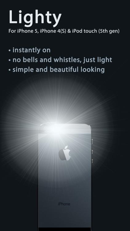 Lighty — The no–nonsense flashlight app