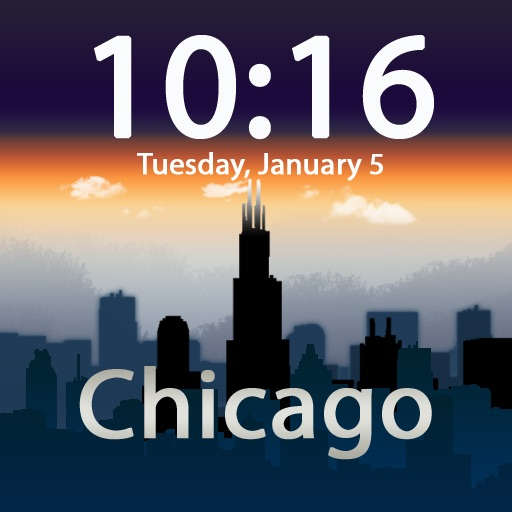Clockscapes Chicago - Animated Clock Display