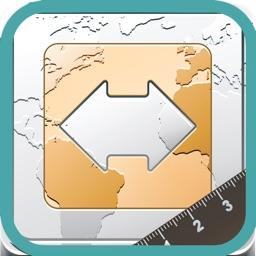 Finger Measure - Map Area & Distance Measurement