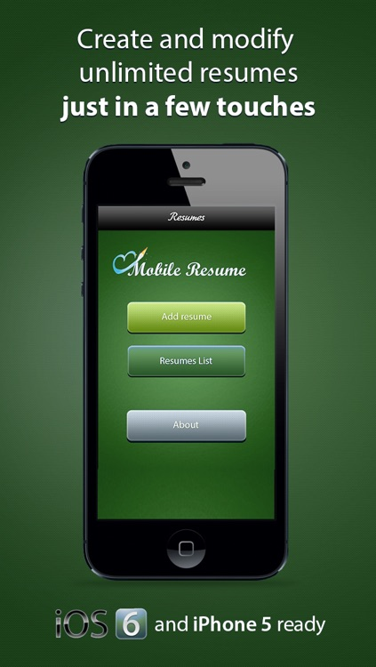 Pocket Mobile Resume for iPhone screenshot-0