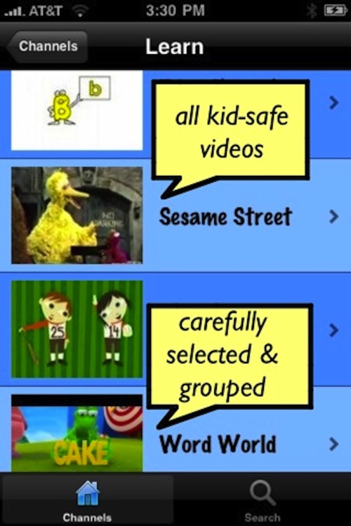 WeetWoo! Kid Videos, Safe & Educational, from YouTube & parent reviewed screenshot-1