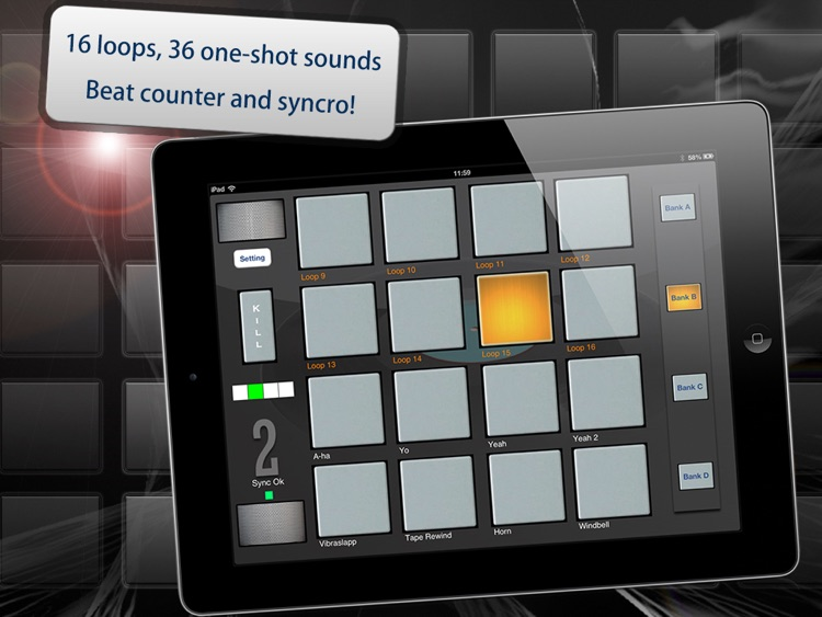 myDjPad - looper and audio effects for dj mixing and looping in dance music style