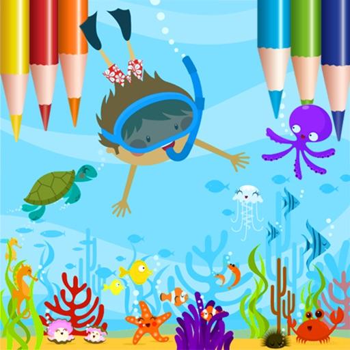 Coloring Book: Fish & Ocean Paradise