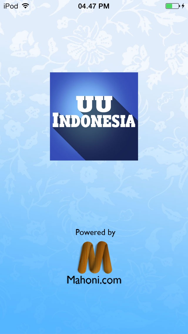 UU Indonesia iPhone