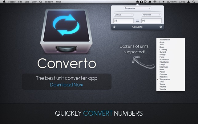 Converto - The Unit Converter Screenshot