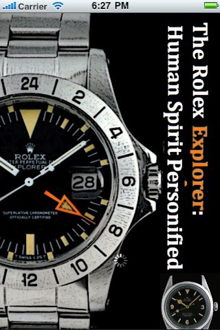 Rolex Explorer: Human Spirit Personified (iPhone)