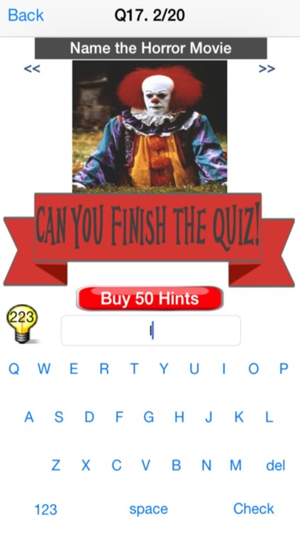 Movie Quiz - Horror Edition - Free Version screenshot-4