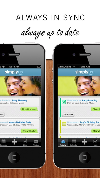 SimplyUs - Shared Calendar, ToDo Task List & Organizer for Couples screenshot-3
