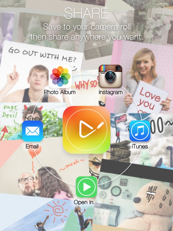 Draw on Video Square FREE - Paint and Drawing Funny Doodles Captions Colors Handwriting and Shapes on Videos for Instagram screenshot-4