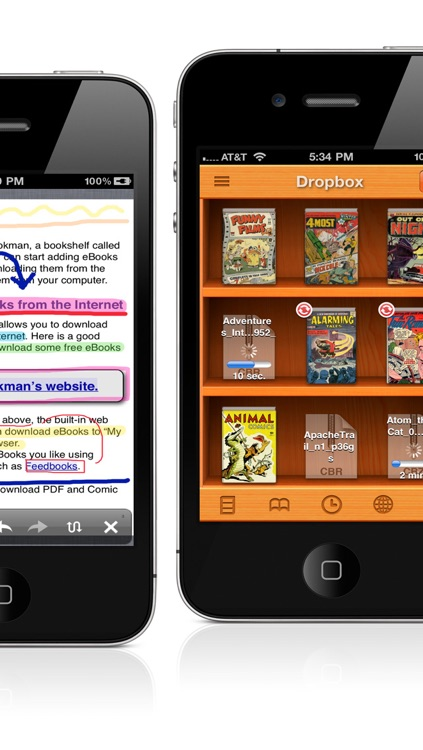 PDF/Comic Reader Bookman Pro for iPhone screenshot-2