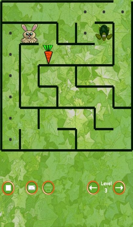 Bunny Maze Race (rabbit vs turtle)
