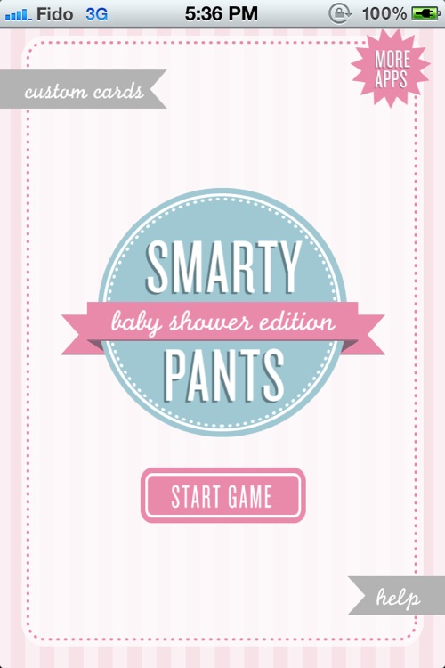 Smarty Pants - Baby Shower Edition