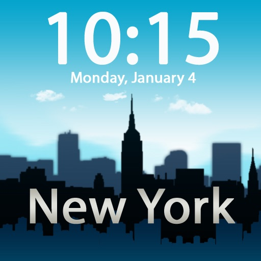 Clockscapes New York - Animated Clock Display