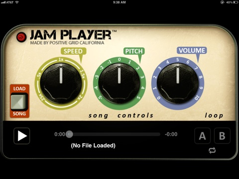 Jam Player - Time and Pitch Audio Player Screenshot