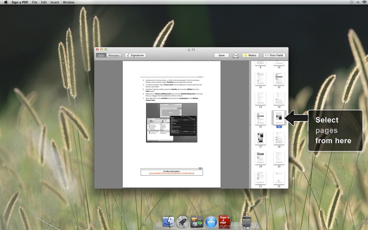 Sign a PDF on the Mac App Store