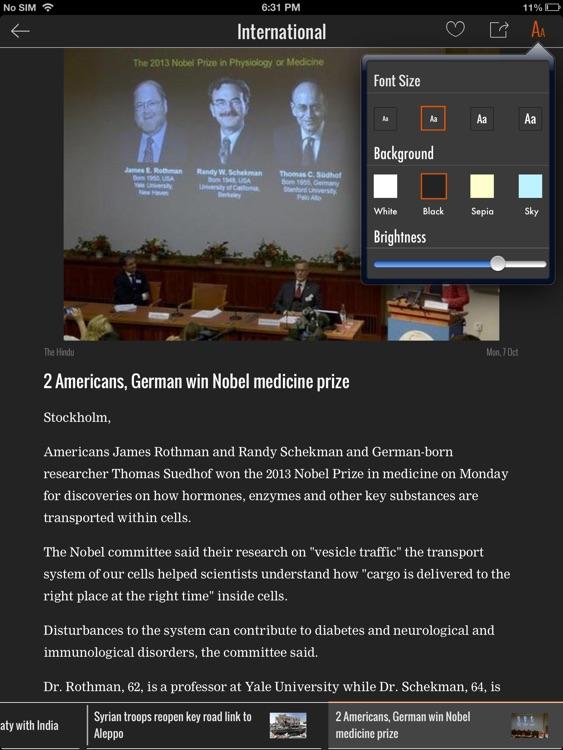 NewsHunt iPad Edition screenshot-3