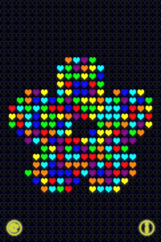 Glow Neon Heart Lights Lite Скриншоты5