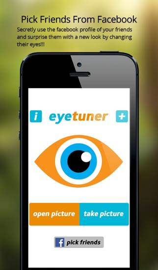 Screenshot #3 for EyeTuner Photo Editor - Giving you a facetune and superimpose cat, zombie and other eyes onto yours!