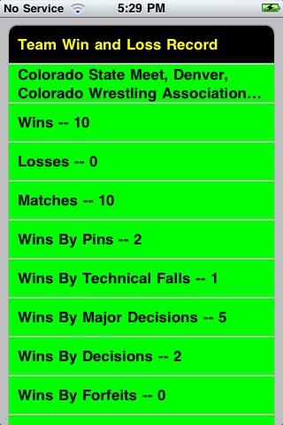 Quick Stats for Wrestling screenshot-3