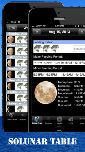Best fishing times on the app store iphone screenshots urtaz Gallery
