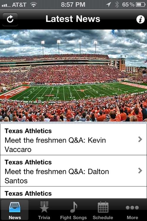 Texas Longhorns Football Trivia and More