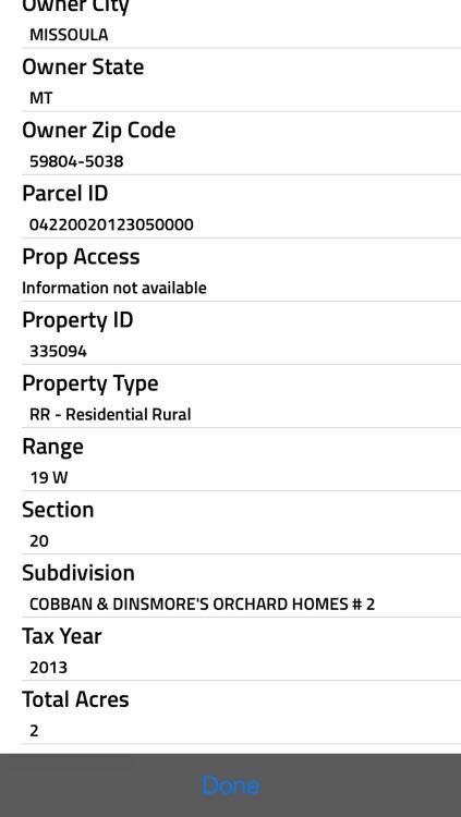 Montana Property Info