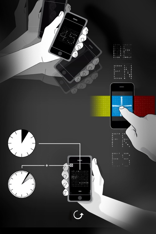 TIME IN WORDS - QLOCKTWO screenshot-3
