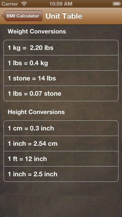 BMI Calc Free screenshot-3