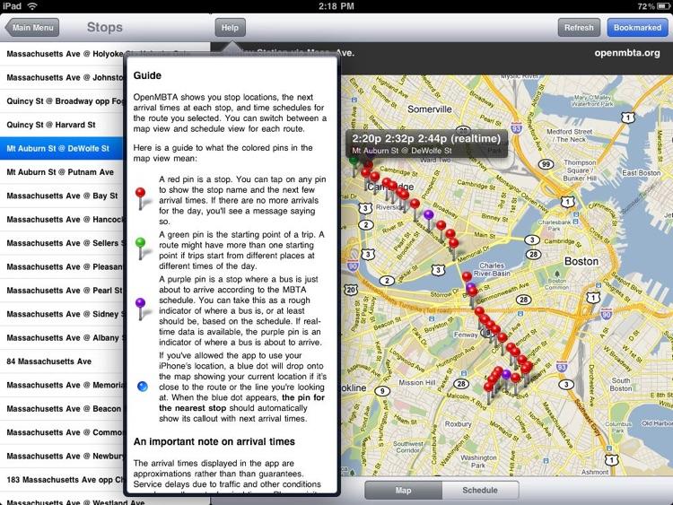 OpenMBTA for iPad screenshot-3