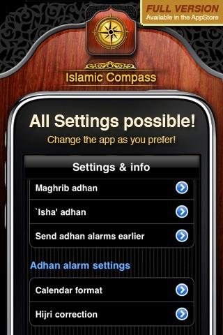Islamic Compass Free - Prayer Times and Adhan Alarm screenshot-3