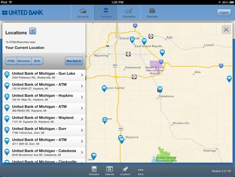 United Bank of Michigan Mobile Banking for iPad screenshot-4
