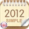 2012 UK Calendar : Simple