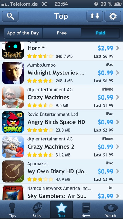 AppTicker Push screenshot-1