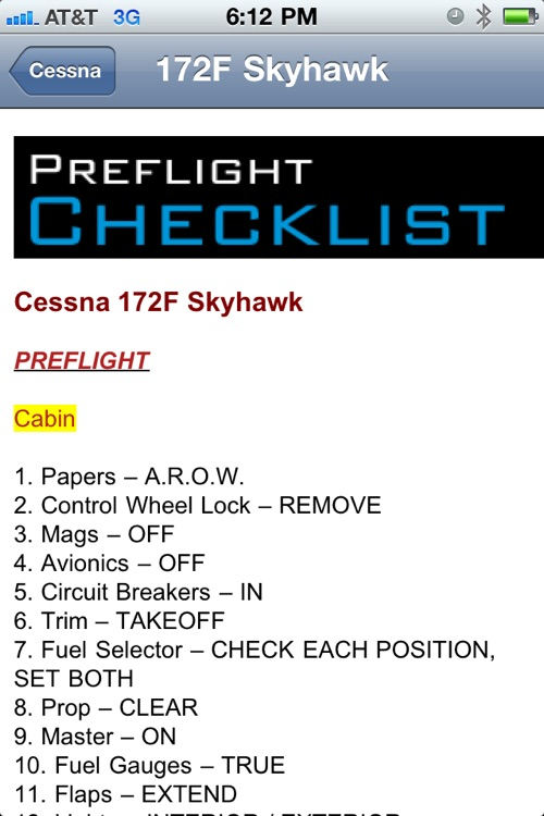 Cessna Checklist screenshot-4