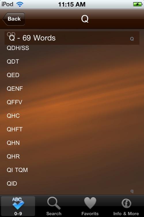 Medical Acronyms & Abbreviation Dictionary