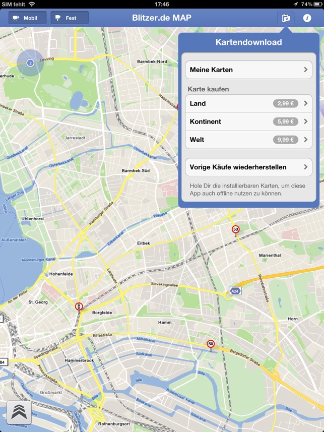 Mobile Blitzer Karte.Blitzer De Map Im App Store