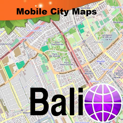 Bali Street Map By Dubbele Com