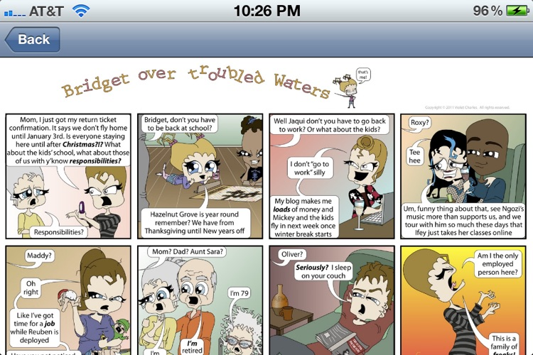 Bridget over Troubled Waters Comic
