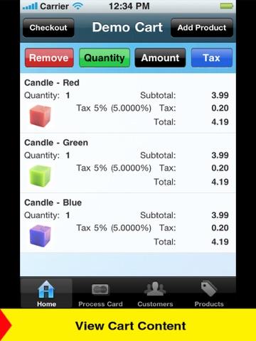 Screenshot of Credit Card Machine - Accept