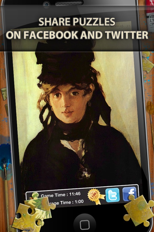 Edouard Manet Jigsaw Puzzles  - Play with Paintings. Prominent Masterpieces to recognize and put together screenshot-3