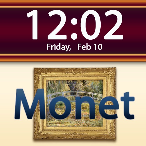 Clockscapes Claude Monet - Animated Clock Display