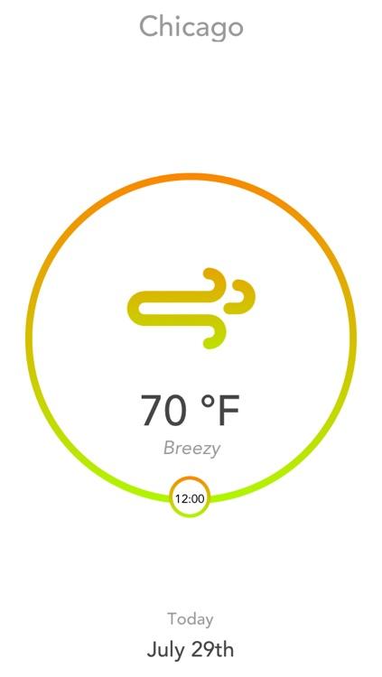 Aura - A Minimal Hourly Weather Forecast App