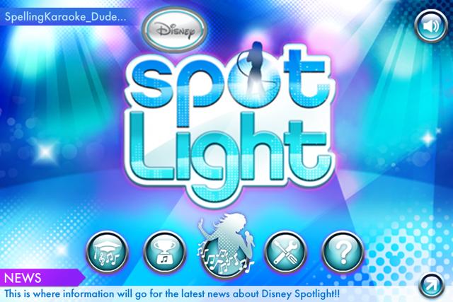 Disney Spotlight Karaoke Screenshot